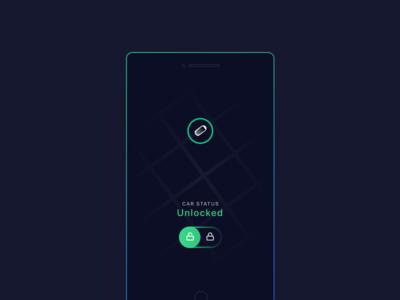 Ride Sharing connected smartcar api roads lock unlock toggle location car map mobile app