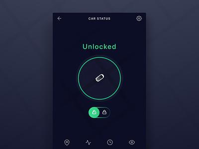 Ride Sharing Concept electric bmw tesla unlock lock toggle smartcar mobile map location car app