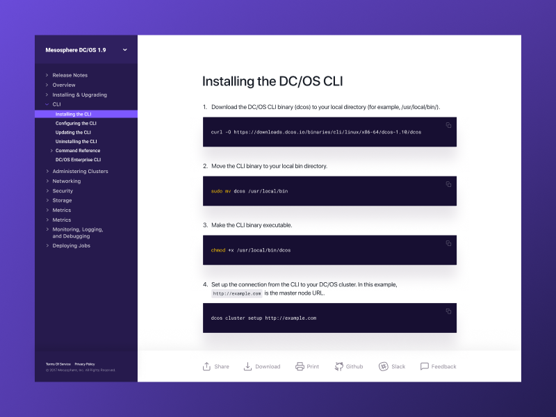 Mesosphere docs product design