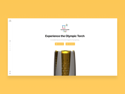 3D Olympic Channel Torch webgl 3d 2018 pyeongchang games winter torch olympics olympic