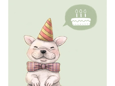 Birthday French Bulldog By Junko Miyakoshi Dribbble