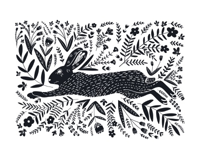 Bunny Hop rabbits rabbit bunny ipad pro illustration digital art