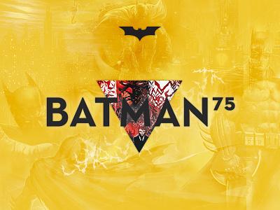 Batman 75th Anniversary (Site Concept) batman comic hero anniversary