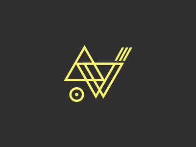 Lines and shapes logo shapes lines triangle