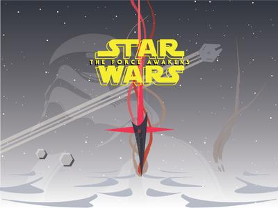 Starwars The Force Awakens starwars space scifi 2015