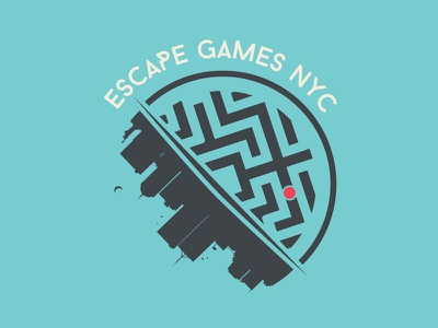 Escape Games NYC escape games newyork concept branding logo