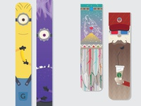 Various Wooden Bookmarks and Keychains