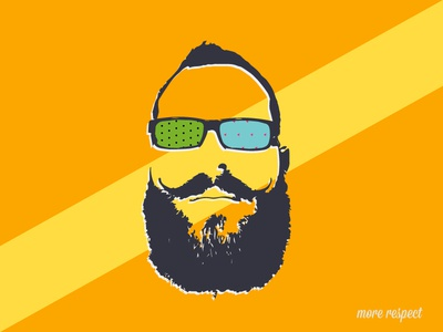 No Shave Soldier beard shave vector long