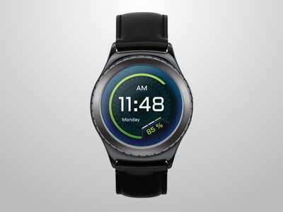 Custom Watch Surface | Samsung Gear S2 time s2 gear samsung watch custom battery