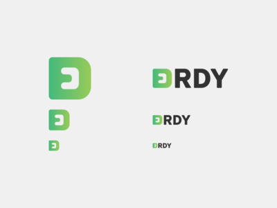 Erdy - Logo Dimensions quick fast order courier package transport green gradient branding logo erdy