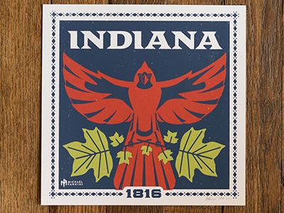 8x8 Indiana Screen Print