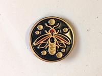 Lightning Bug Enamel Pin
