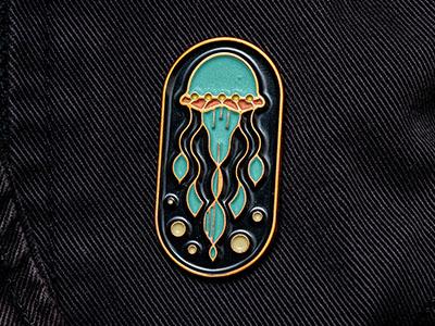 Jellyfish Enamel Pin