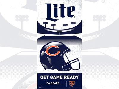 Miller Lite/Chicago Bears POP Illustration