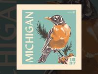 Michigan Stamp Illustration