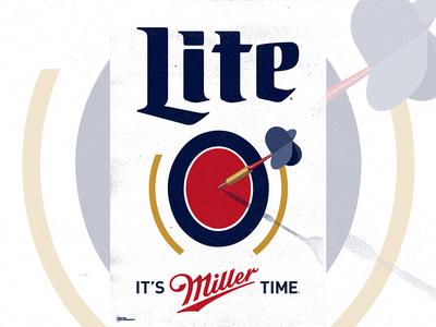 Miller Lite Darts Poster