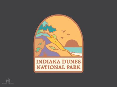 Indiana Dunes Pin/Sticker