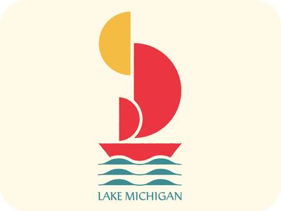Lake Michigan Illustration