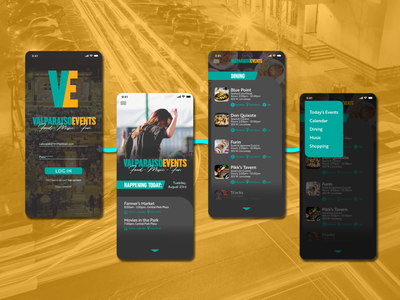 Valparaiso Events Concept App