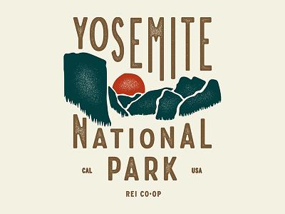 Yosemite NPS Spring 18 rei co-op yosemite nps outdoors lettering illustration