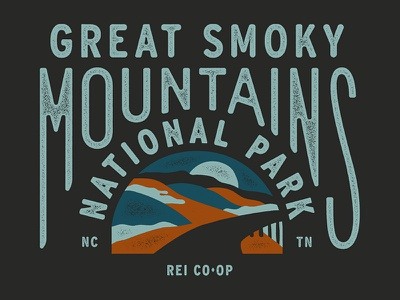 Great Smoky Mountains NPS Spring 18 rei co-op great smoky mountains nps outdoors lettering illustration