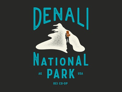 Denali NPS SPRING 18 rei co-op denali nps outdoors lettering illustration