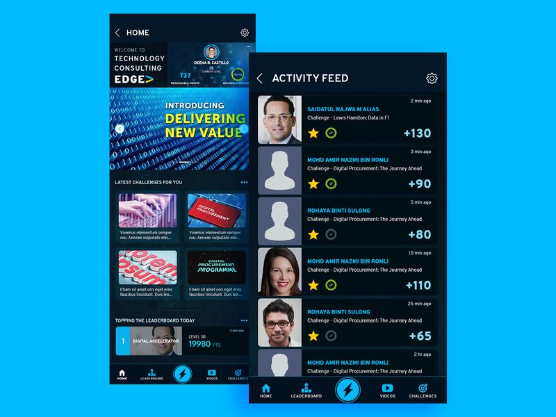 Leader Board website app branding ui ux design