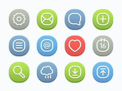 Icons - Semi Flat version