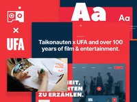 UFA.de - a Behance case of uniting a century of film & TV legacy case study case prototype design typography branding animation ux website ui taikonauten ufa