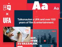 UFA.de - a Behance case of uniting a century of film & TV legacy case study case prototype design typography branding animation ux website ui taikonauten ufa