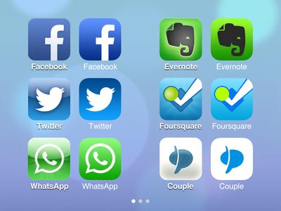 iOS 6 > iOS 7 – App Icons