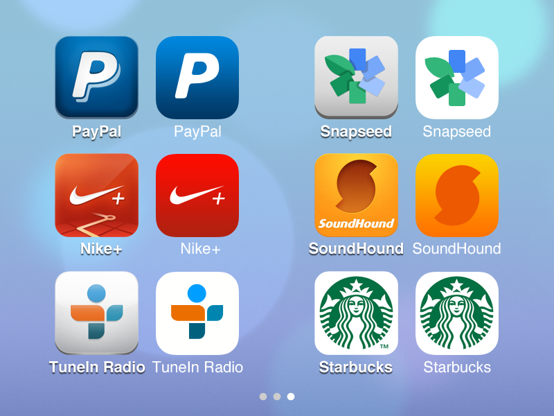 iOS 6 > 7 – App Icons 3 ios7 apple ios icon icons app facebook evernote twitter foursquare whatsapp couple