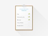 Checklist – Design 2013