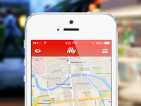 illy Locator – Concept iOS7 – First steps