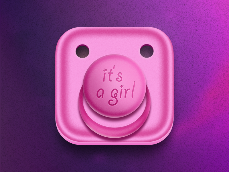 It's a Girl girl pacifier baby ios icon pink child parent daddy dad father