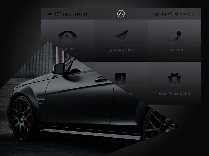 User Interface – Mercedes Benz ui carplay mercedes navigation icon matte black dark benz amg