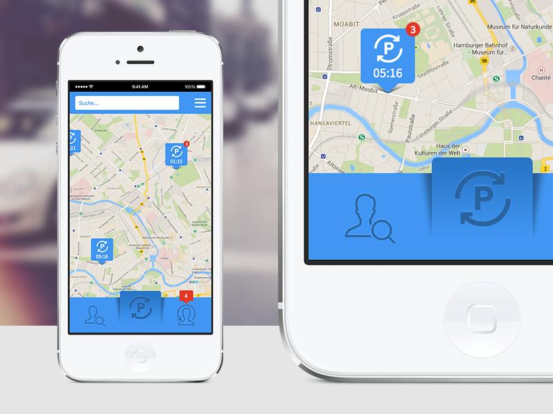 parking ↔ swap / iOS App by Hüseyin Yilmaz on Dribbble