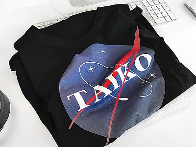 🖖🏼 TAIKO Shirt 🚀 ui ux science prototype merchandise taikonauten taiko shirt