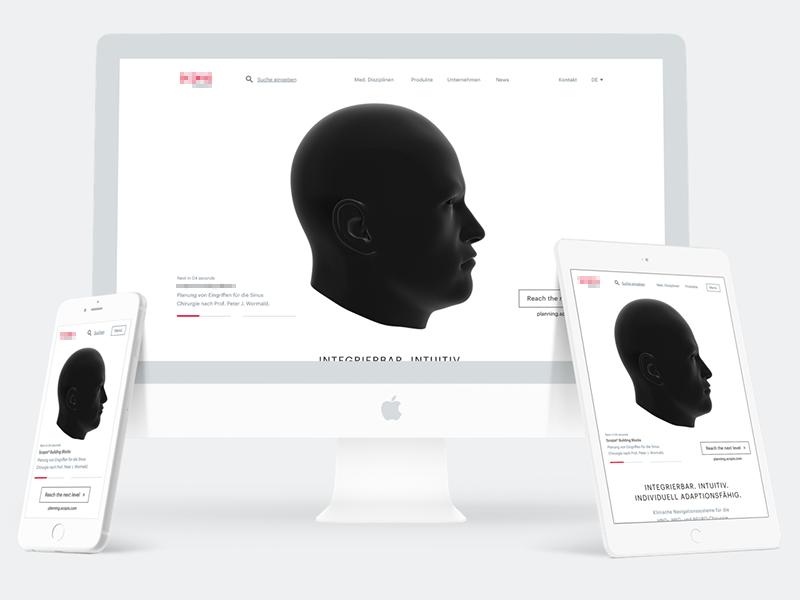 Website Relaunch  - Medical 👨🏻⚕️🔬📋 webgl animation 3d ux ui medical design website