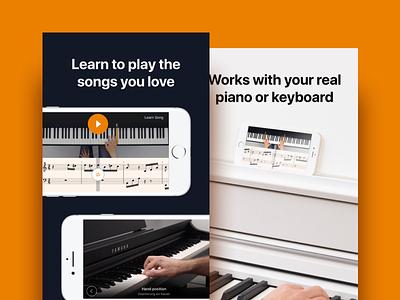flowkey - Learn piano design ui ux music piano learn ipad iphone app