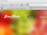 Juicy Shakes Website Navigation
