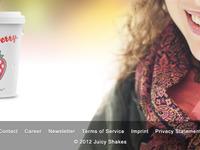 Juicy Shakes Website Footer