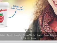 Juicy Shakes Website Image Slider