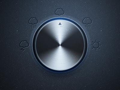 Weather Knob weather knob icons icon navigation ui metal aluminium control