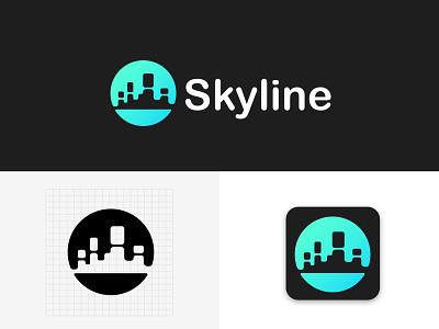 Skyline Logo Design web music branding design logo grapic design