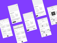 CHILL Streaming Service App Wireframes