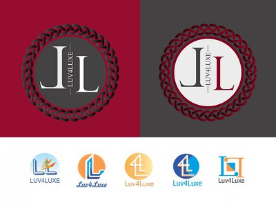 Luv4Luxe Sample Logos graphic design ux ui web development web design dimensions sketches color palllets typography design business logo auxesis infotech client acquisation it consultant business consultant business analyst business developer