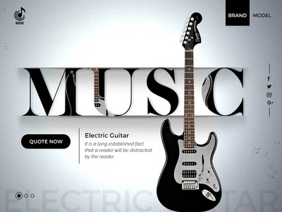 Music Brand Website Design