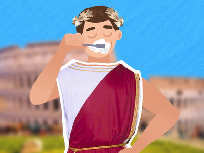 Ancient Rome character animation after effects 2d gif 2d animation behind the scenes ancient history fact rome donkey loop character illustration animation