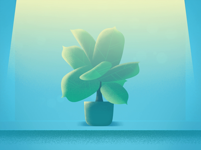 Plant light plant after effects 2d animation 2d loop fall autumn lamp leafs particles illustration video gif animation